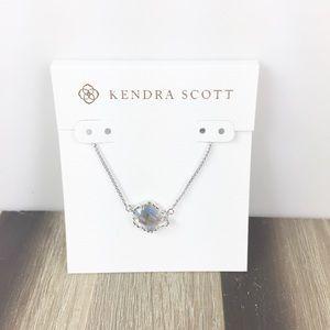 Kendra Scott Tess dichroic glass silver necklace